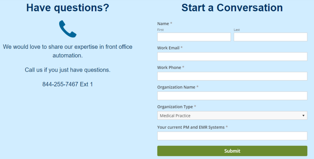 Simple Interact contact form