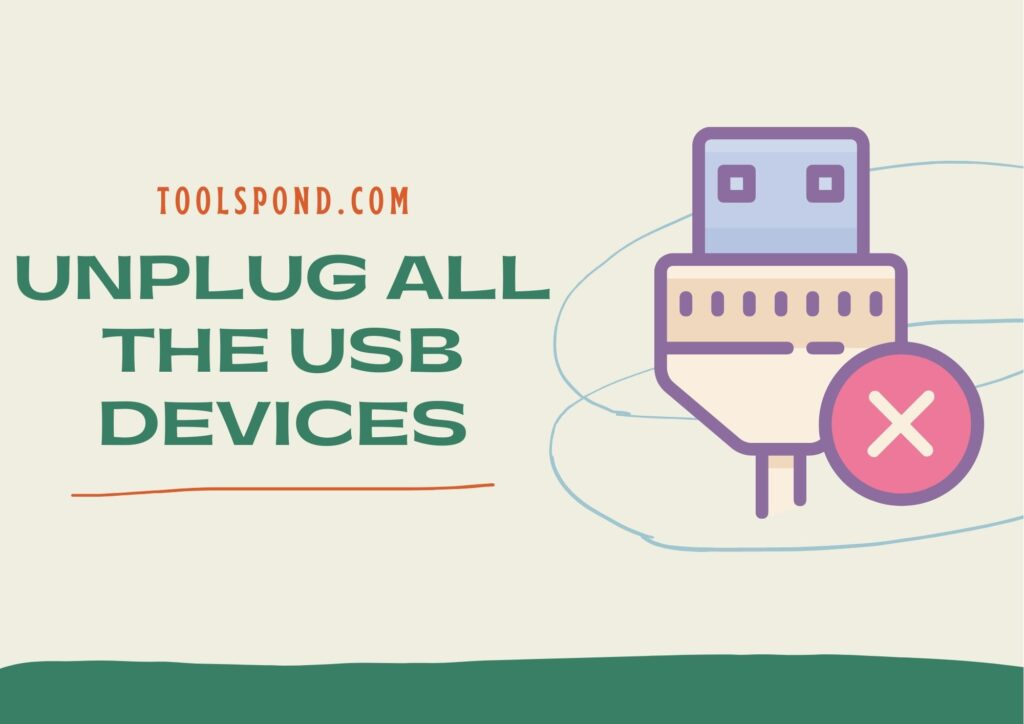 Unplug all the USB devices