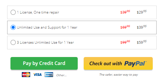 Restoro pricing