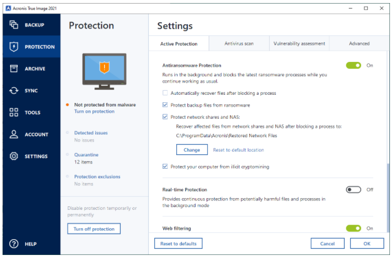 Data Protection Features