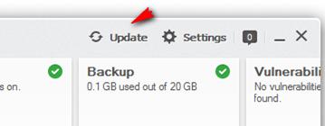 BullGuard update is stuck