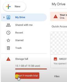 Drive Storage Space Full