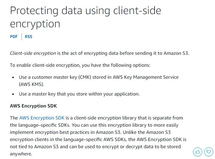Client-side Encryption of Data