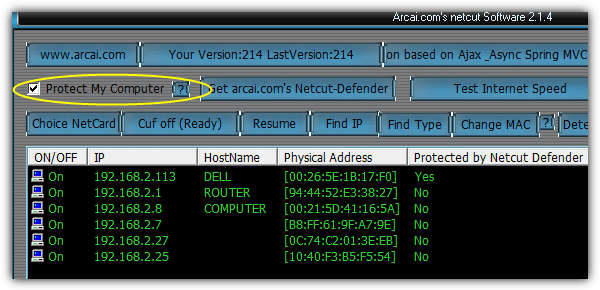 Security of netcut