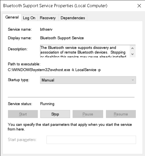 scms-t support service properties