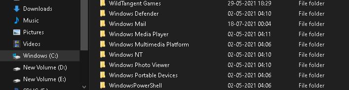 Windows NT folder