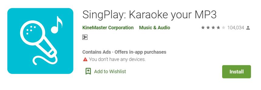 ditty alternatives: SingPlay