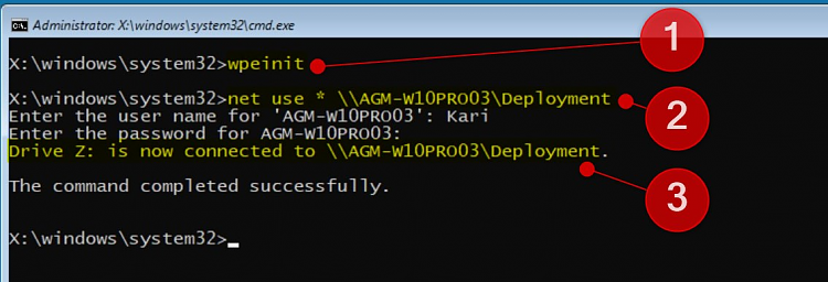 cmd and wpeinit