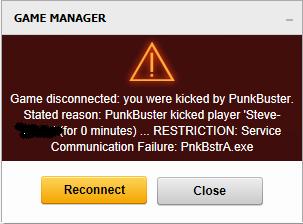 Service Communication failure