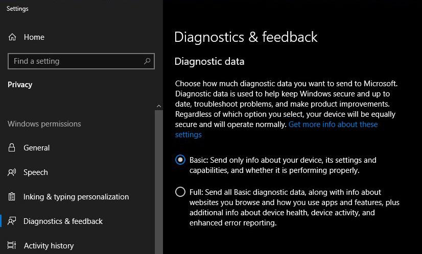 disagnostics tracking