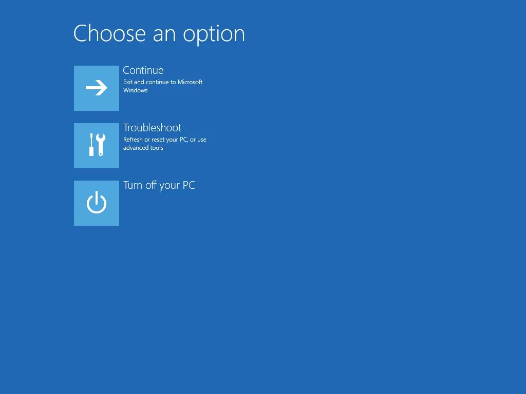 reboot option menu