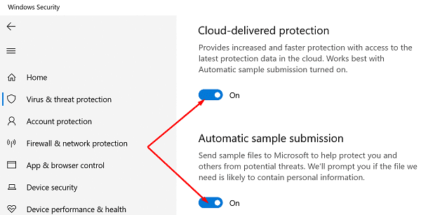 Windows virus protection