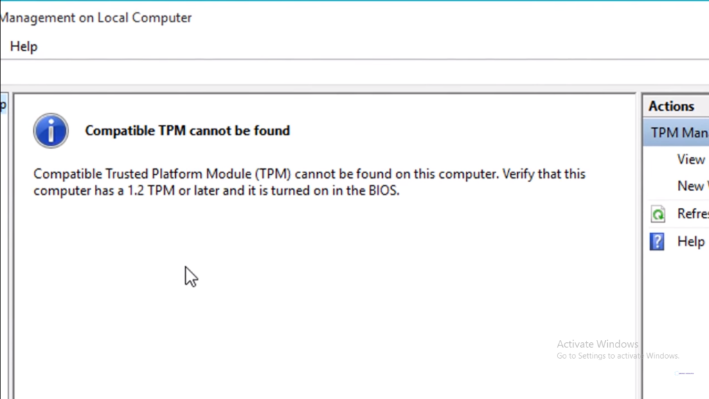 tpm is not usable